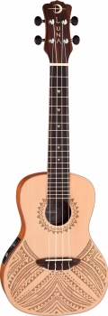 Luna Tapa Concert Solid Spruce Ukulele with Preamp